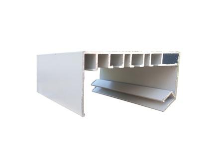 Vorhangschiene aus Aluminiumprofil weiß